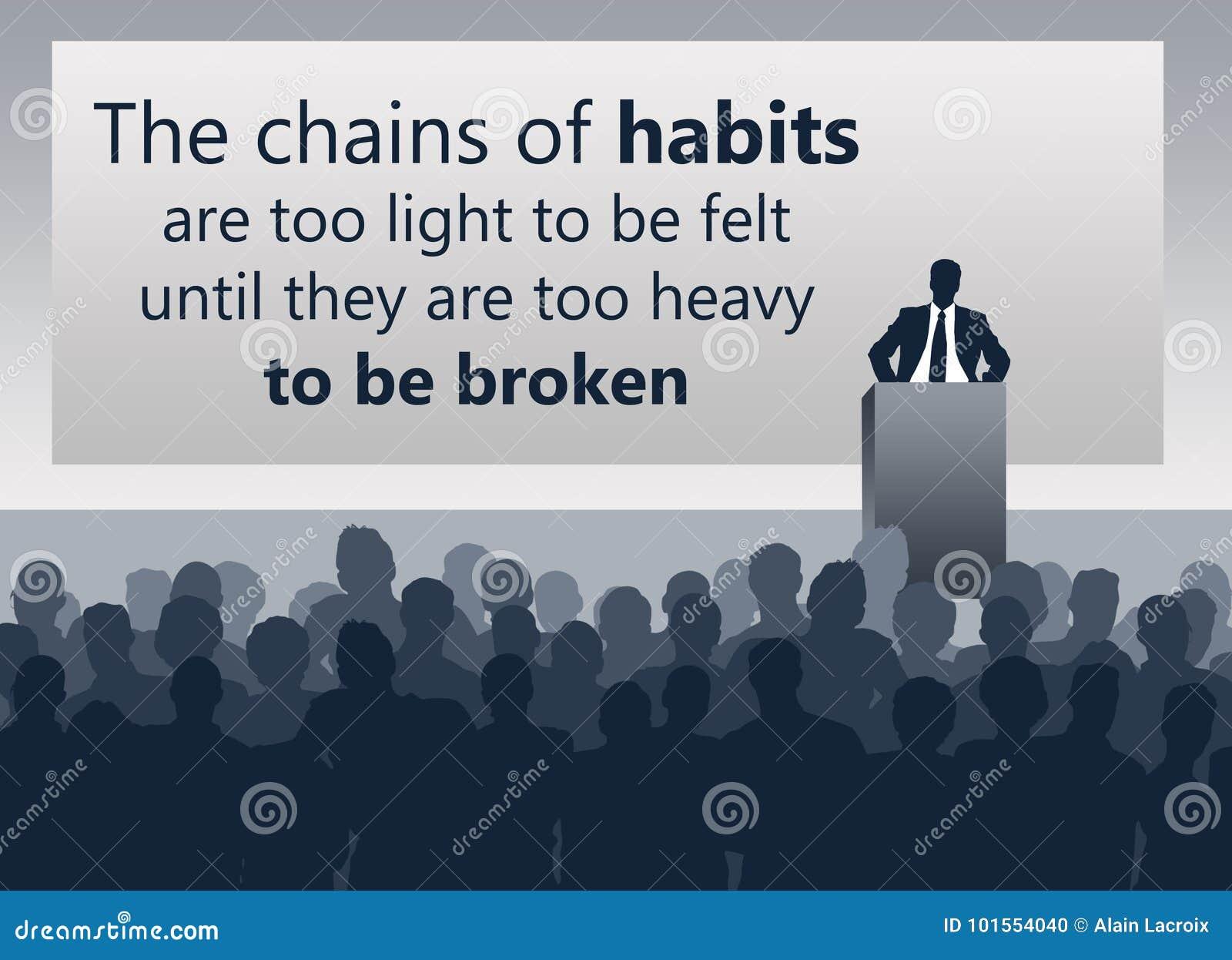 Ändern Sie schlechte Gewohnheiten