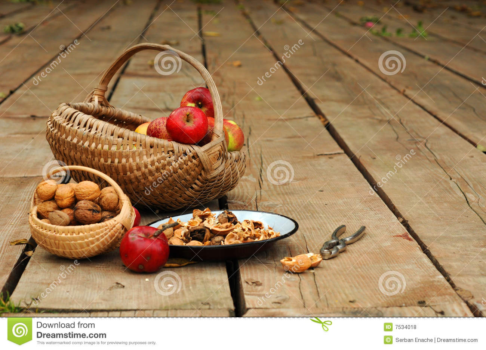 Äpfel u. Walnüsse