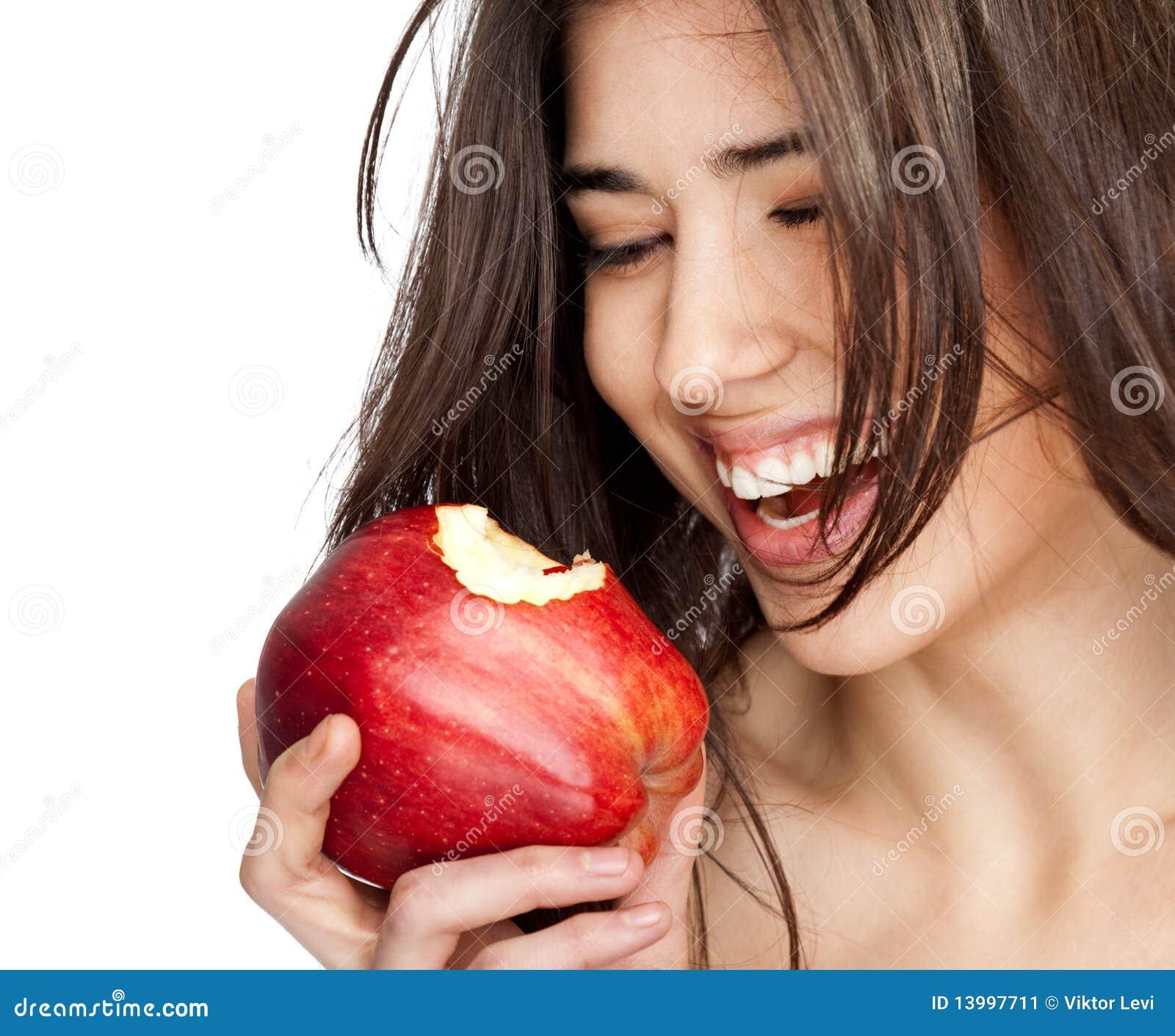 äpple biten kvinnligred