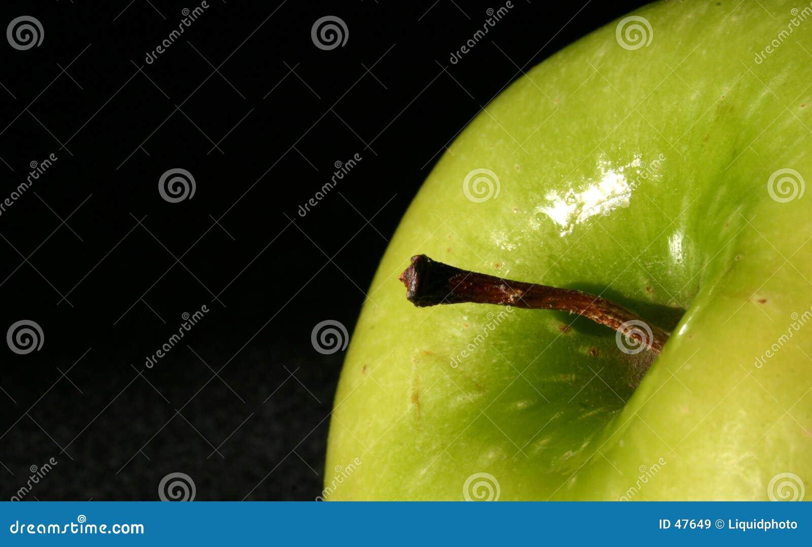 äpple - grön överkant