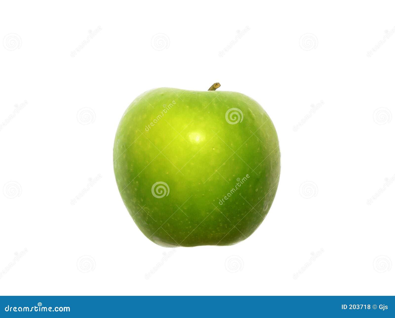 äpple - grön white för sidosikt