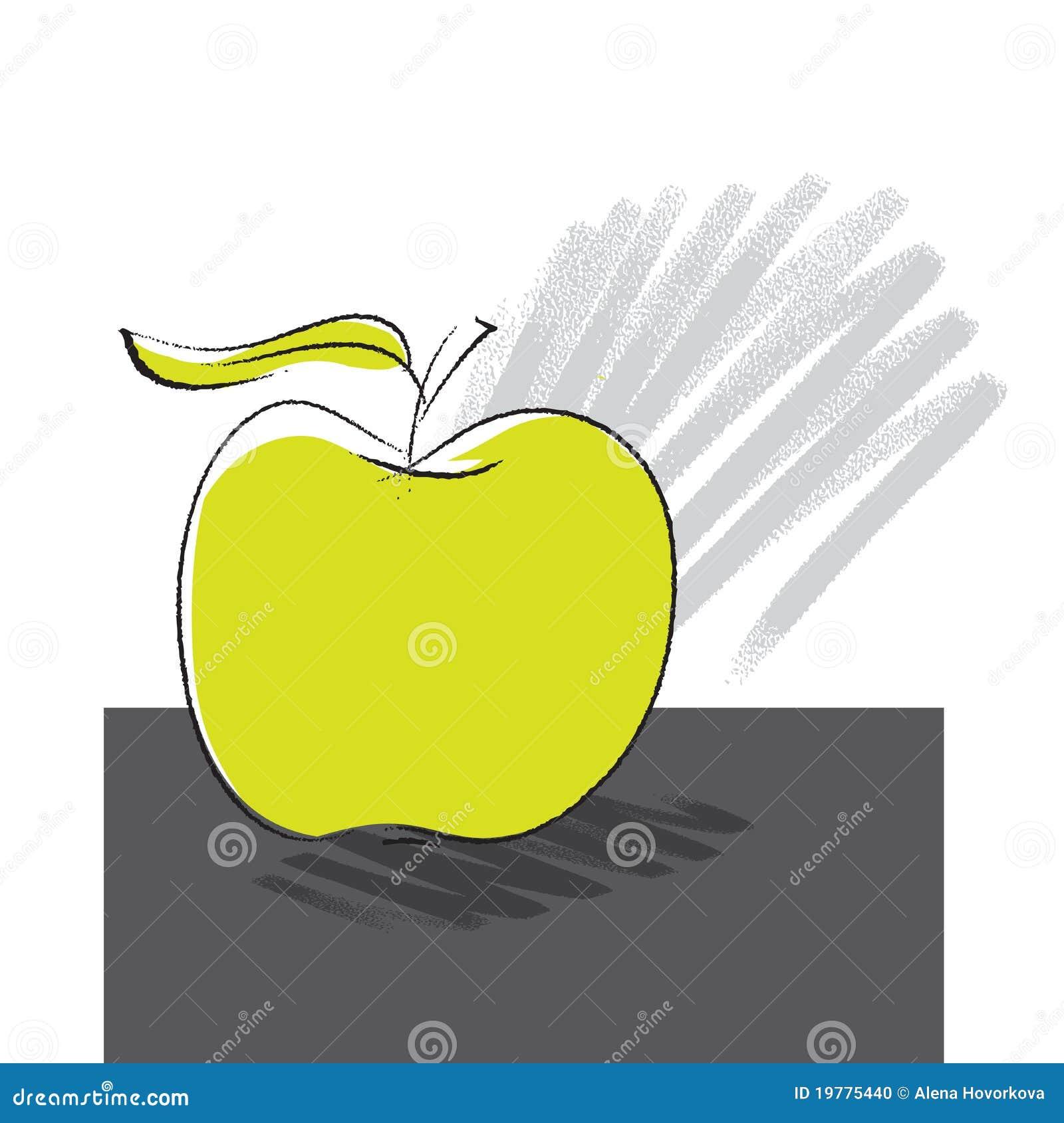 äpple som tecknar frihandssymbolen