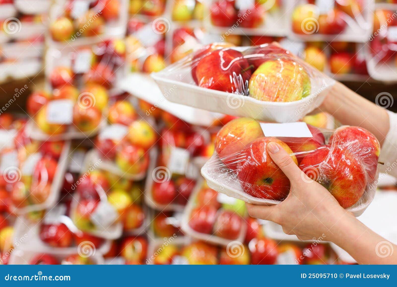 äppleflickahänder rymmer det packade lagret