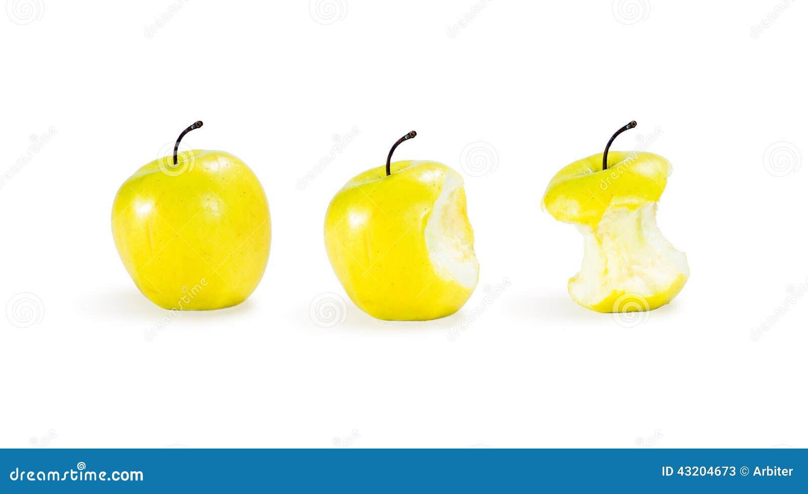 Download äpplen tre fotografering för bildbyråer. Bild av vitt - 43204673