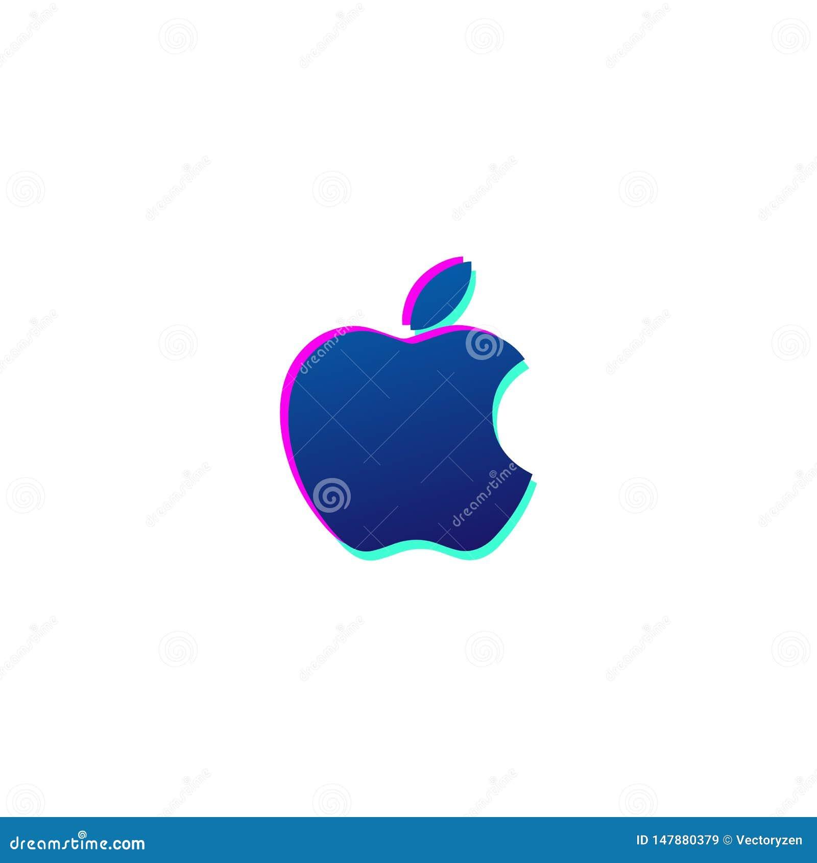 äpplesymbolslogo eller isolerad symbolvektor