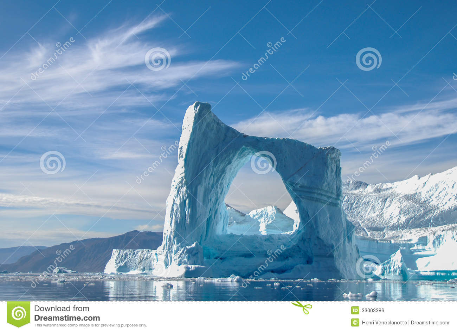 Ärke- isberg i Grönland