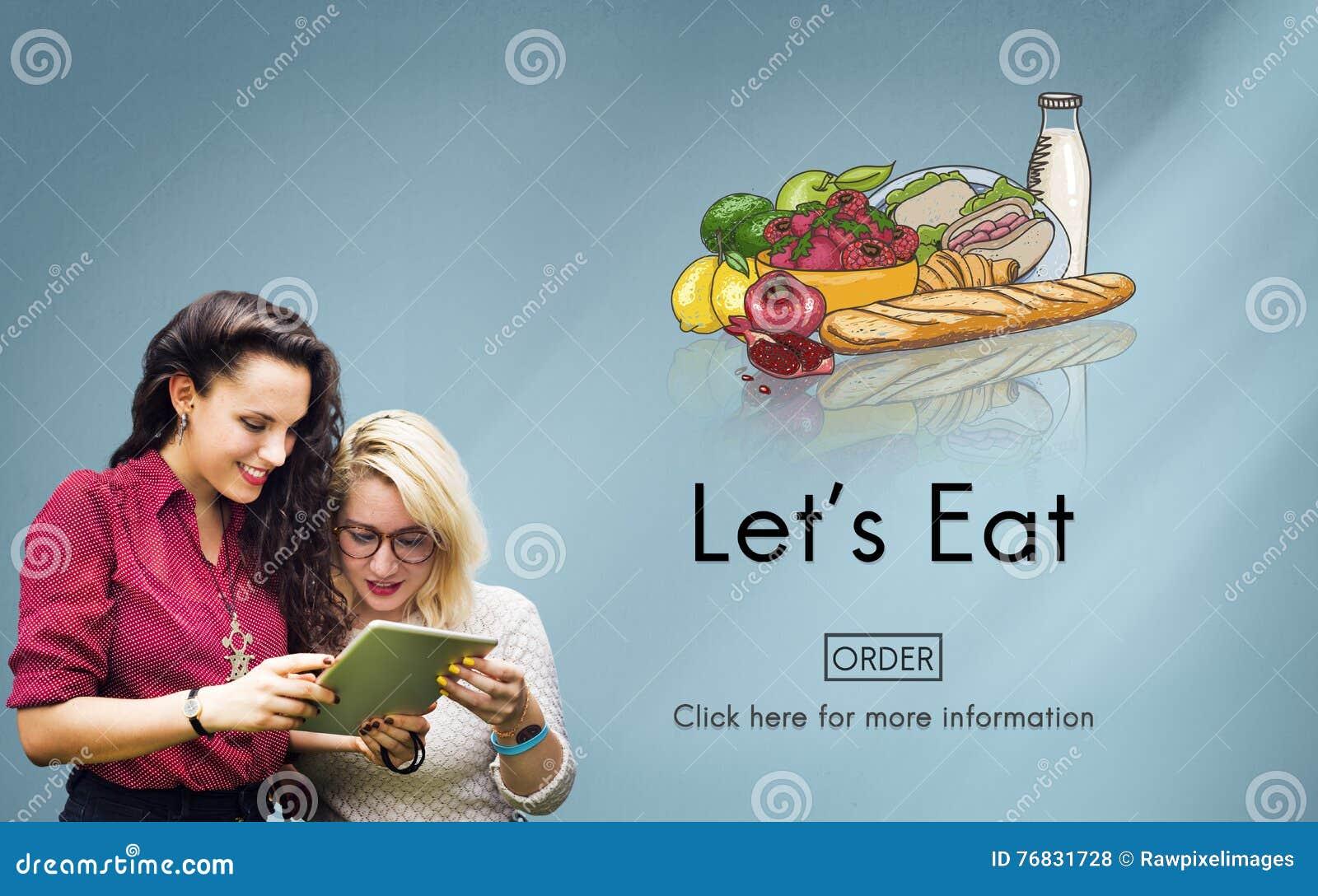 Äta att äta bosatt äta middag för näring bantar matbegrepp