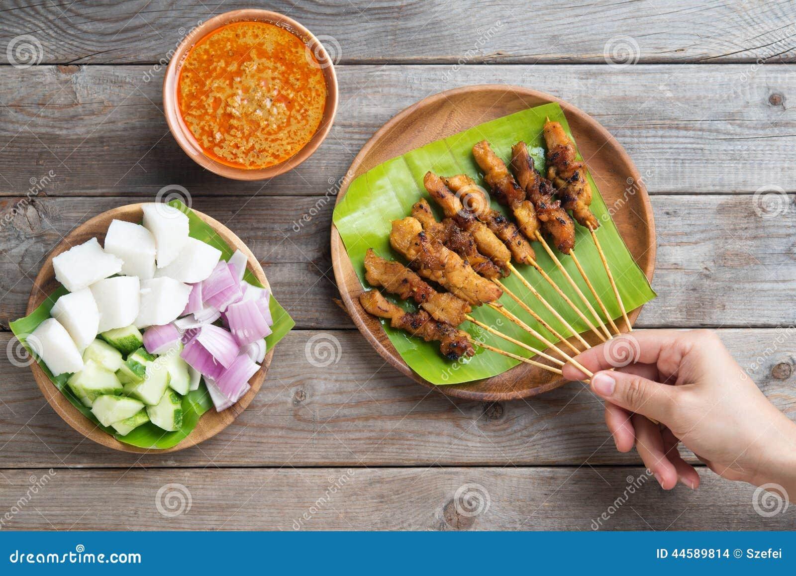 Äta för folk som är satay