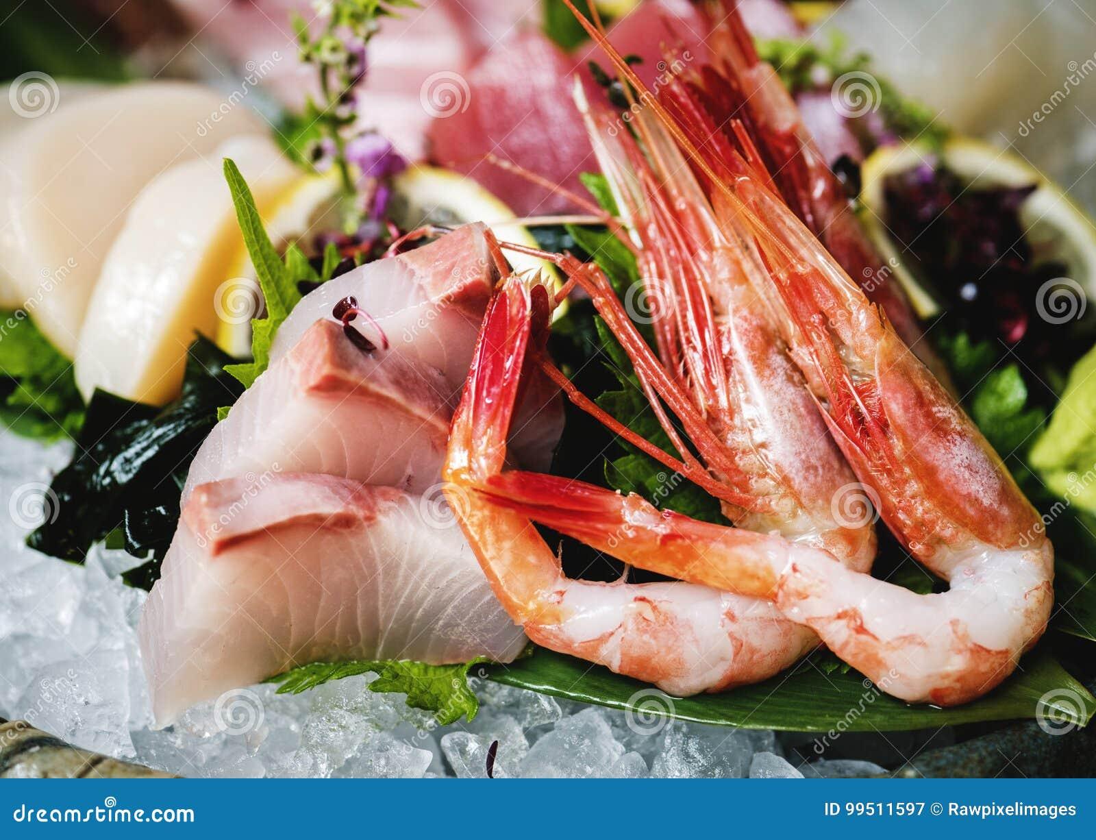 Äta för japansk mat för Sashimi sunt