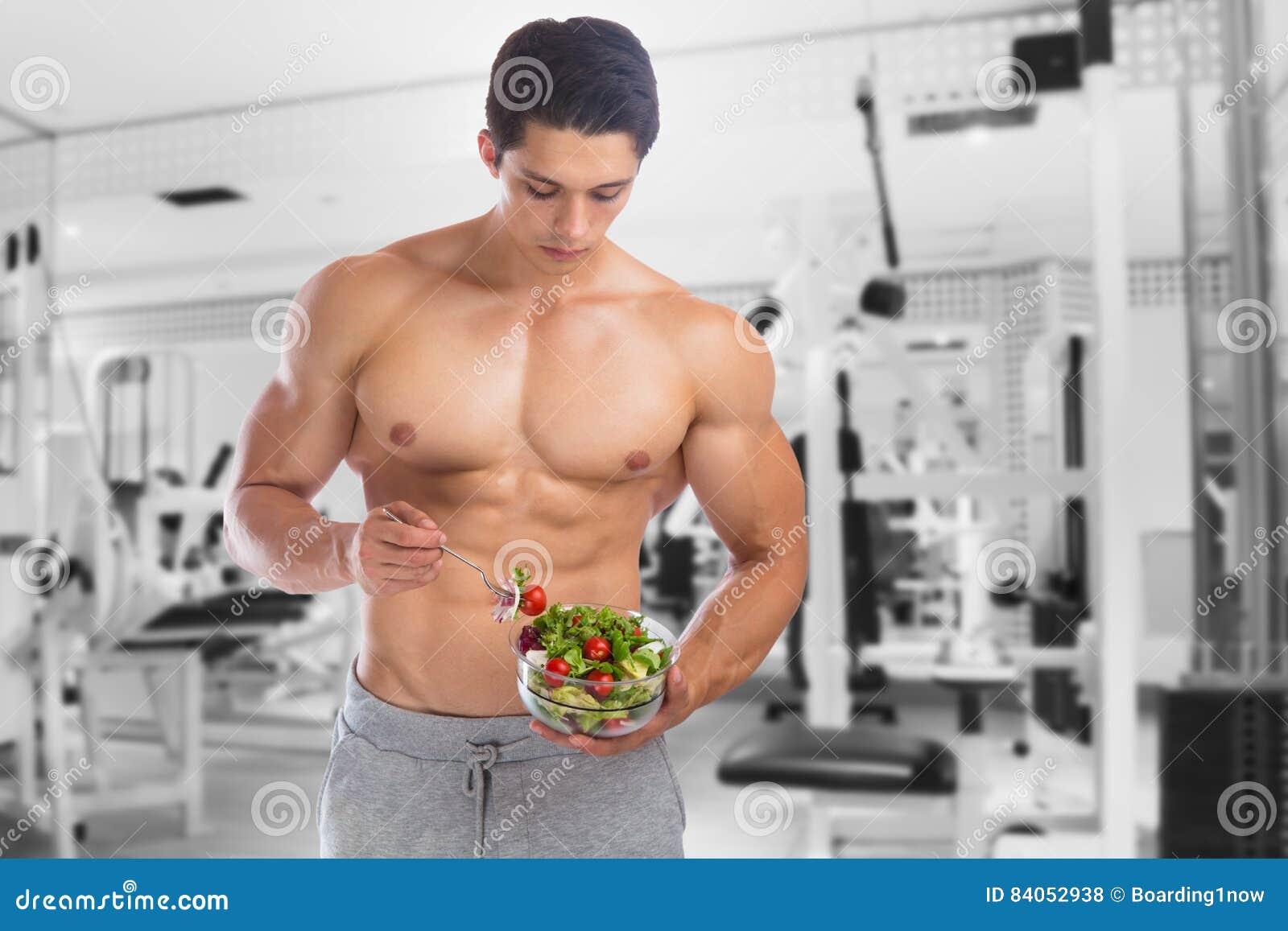 Äta idrottshall för kondition för kroppsbyggare för matsalladbodybuilding förkroppsliga buil