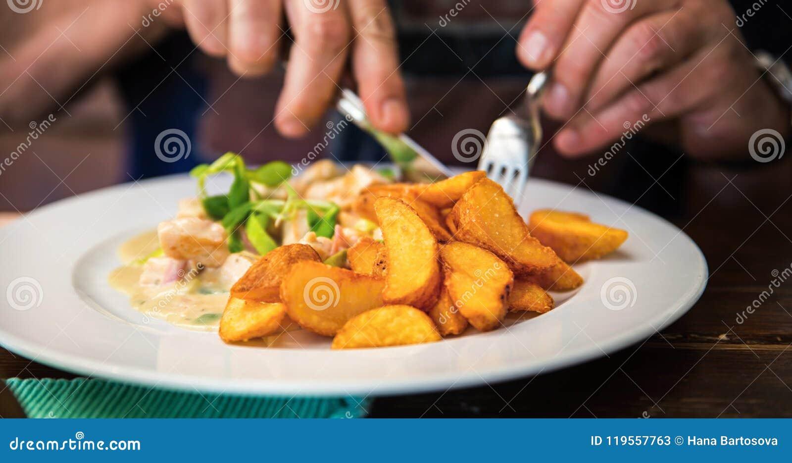 Äta lunch eller matställen