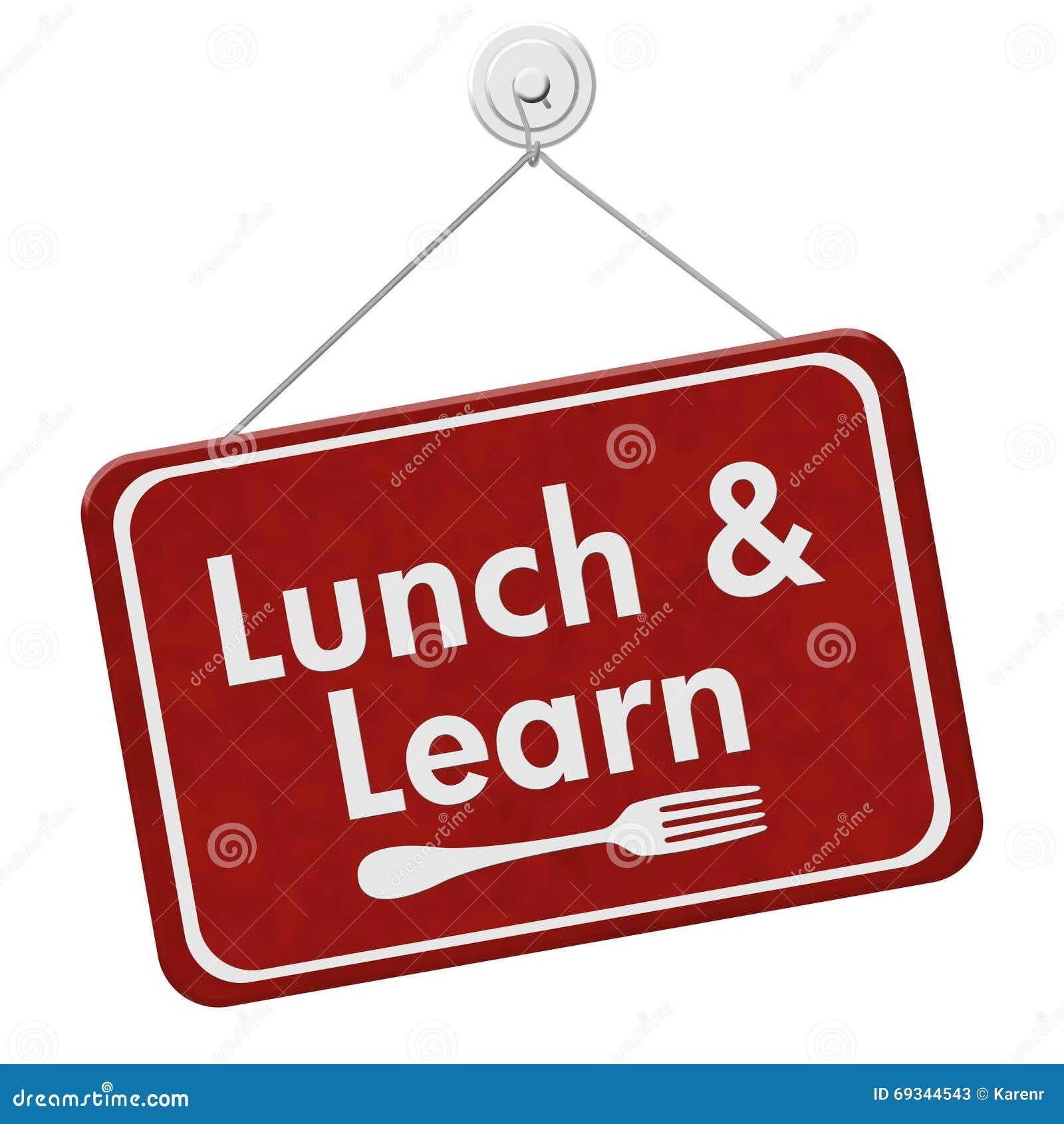 Äta lunch och lär tecknet
