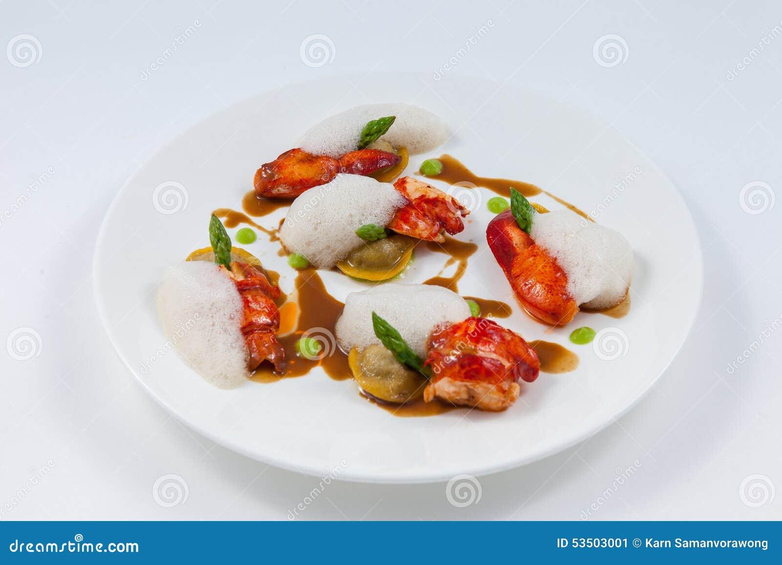 Äta middag för hummerbot