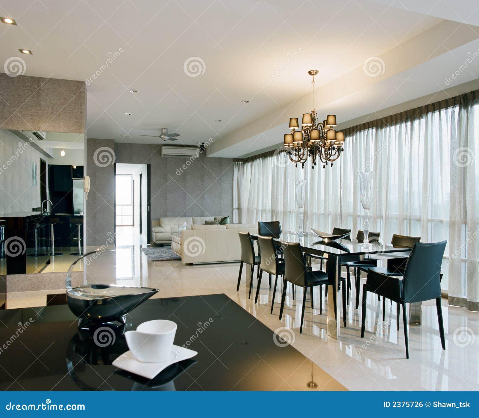 äta middag interior för områdesdesign