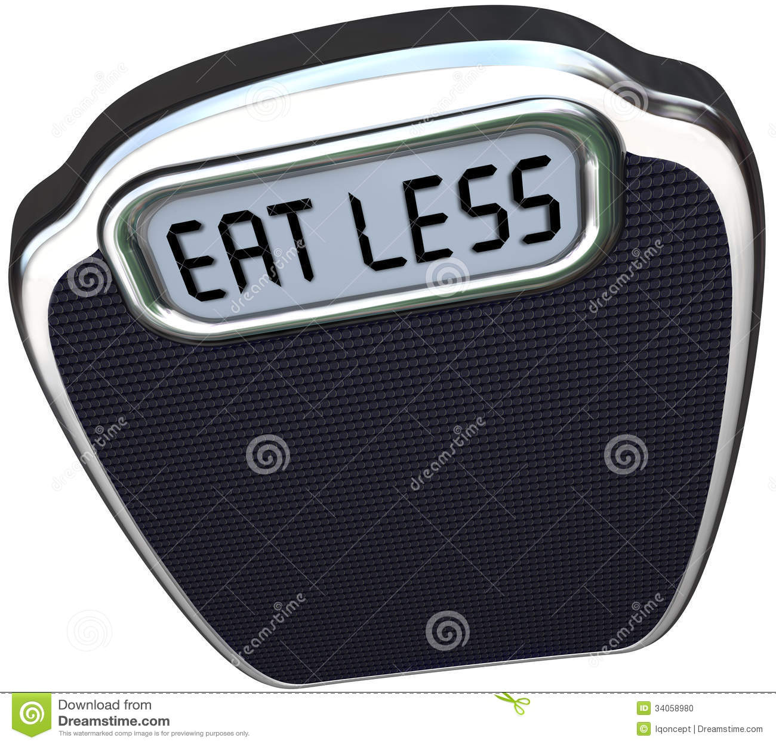 Äta mindre ord som skalan förlorar vikt bantar