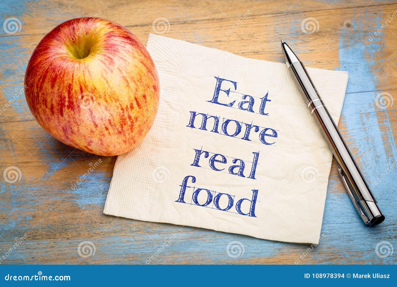 Äta verkligare matpåminnelseanmärkning