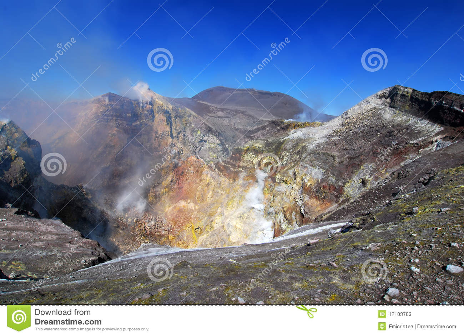 Ätna-Krater in Sizilien