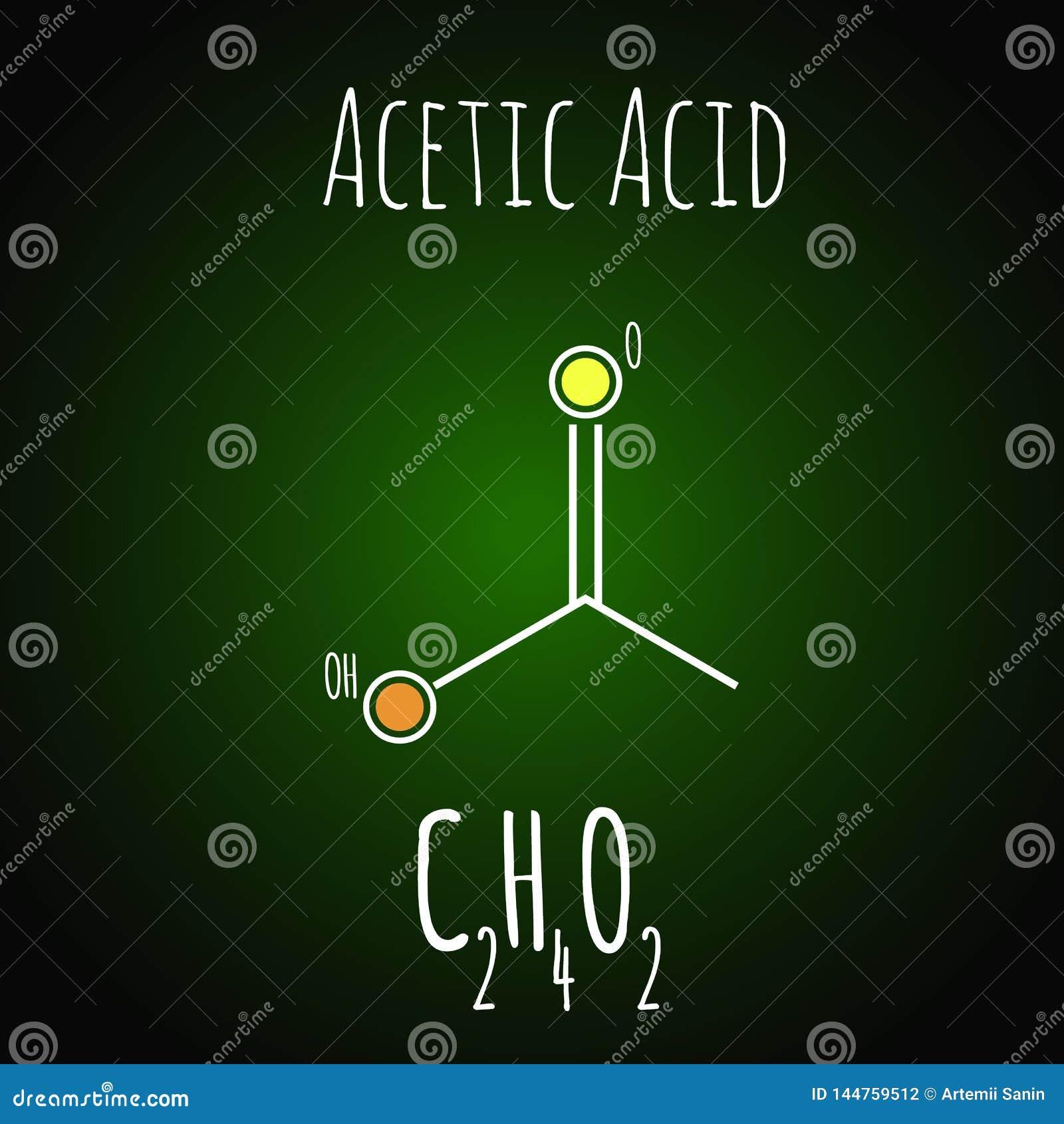 Ättiksyra ethanoic syra, är den andra enklaste carboxylic syrliga formeln, en viktig industriell kemikalie