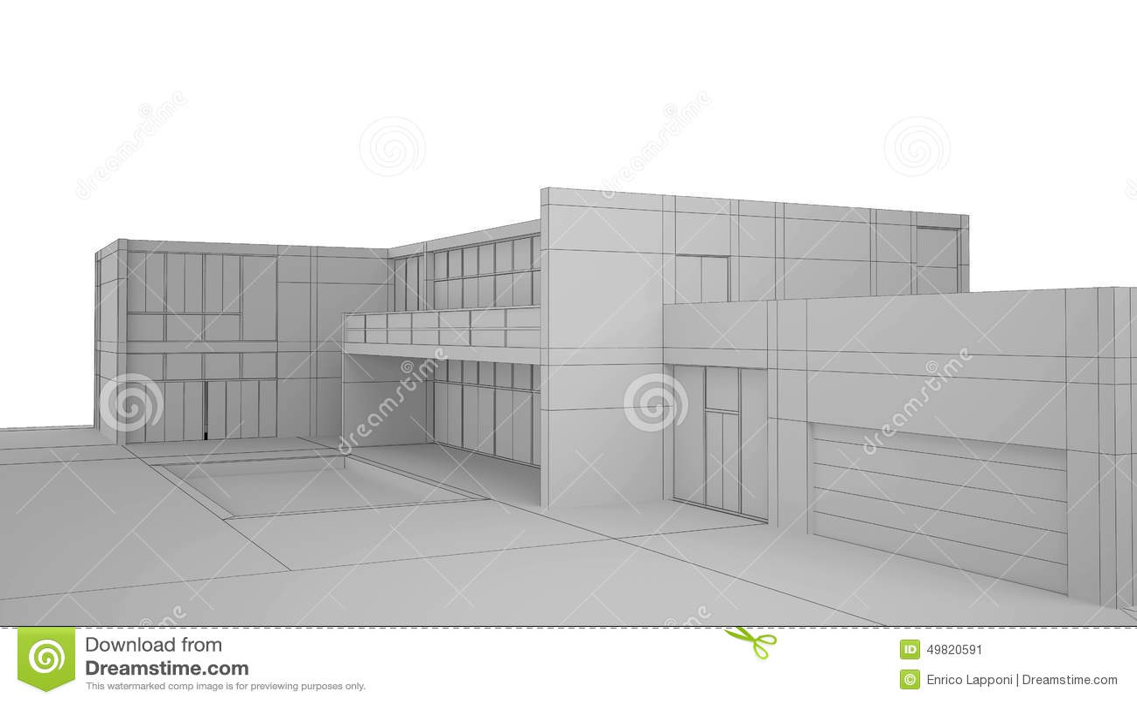 Äußeres überträgt Af Ein Modernes Haus Stock Abbildung ...