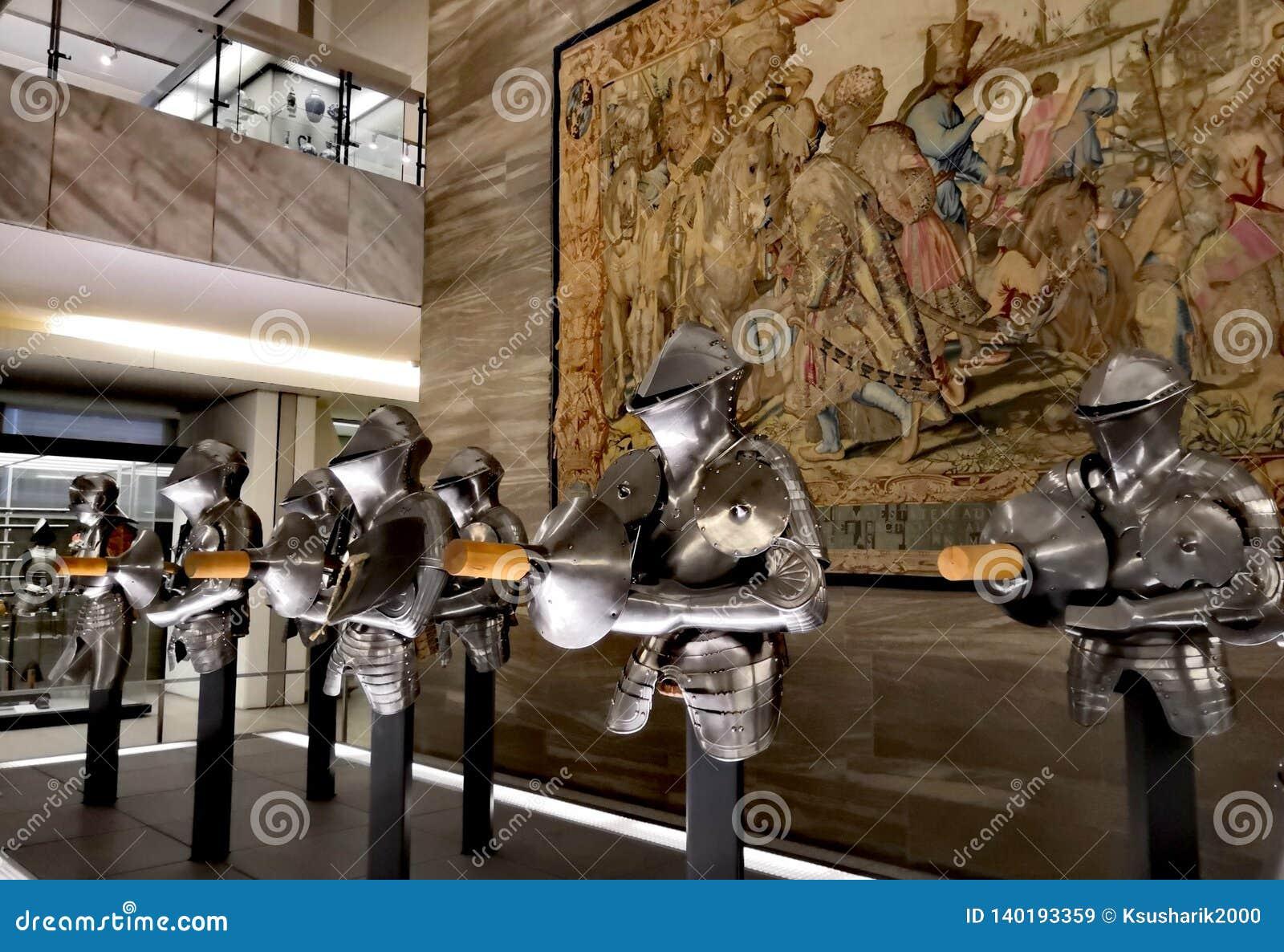 博物馆的保护的骑士