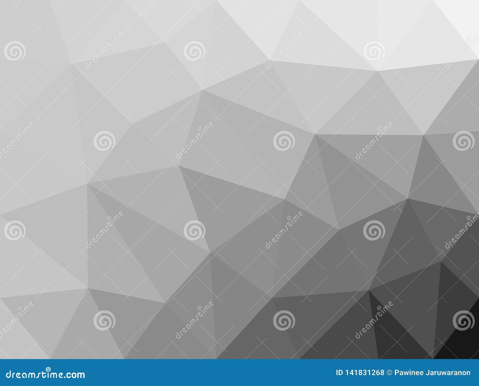 单色多角形摘要背景