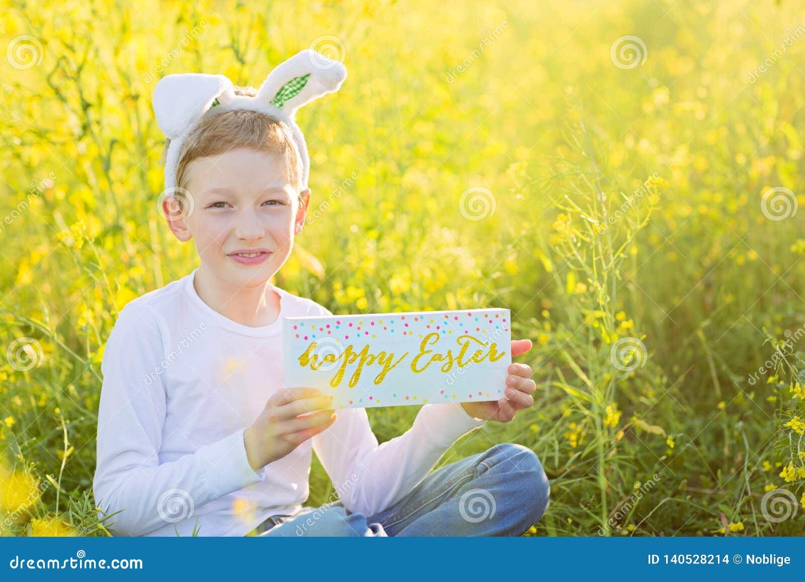 复活节时间的男孩