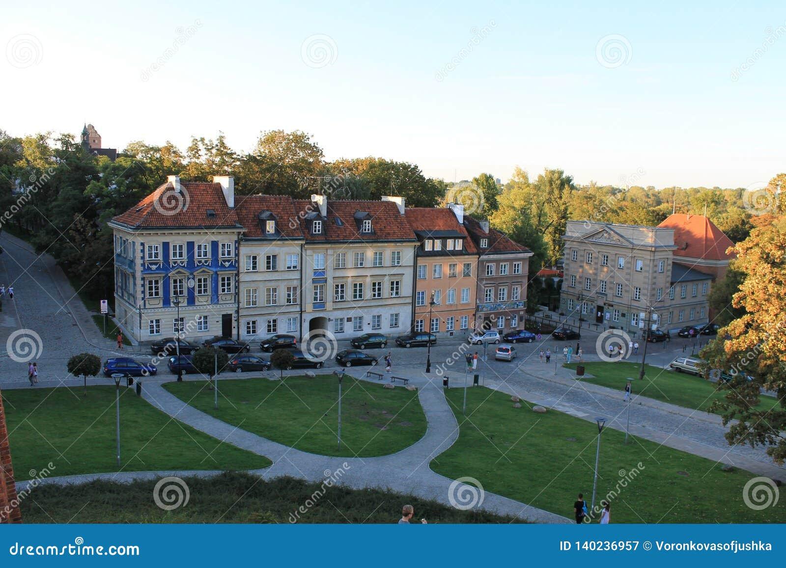 大厦在华沙波兰的历史的中心