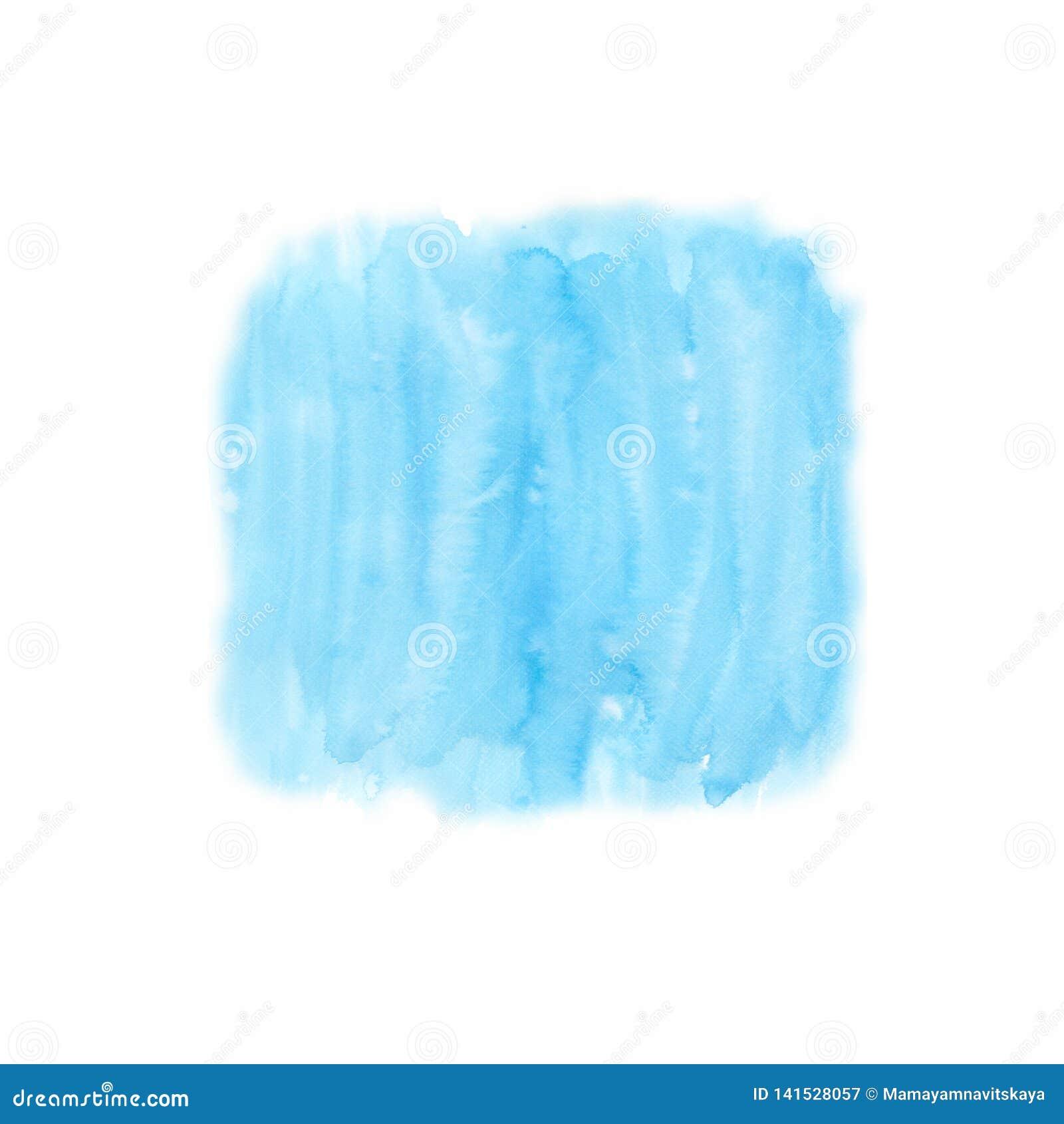 天蓝色纹理和背景的水彩背景 湿的背景 蓝色 手画水彩背景 水彩