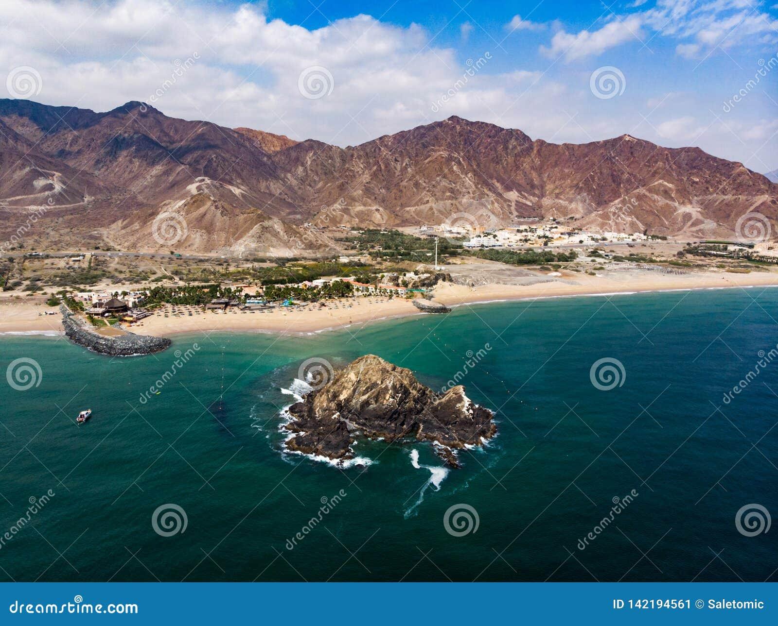 富查伊拉沙滩在阿拉伯联合酋长国