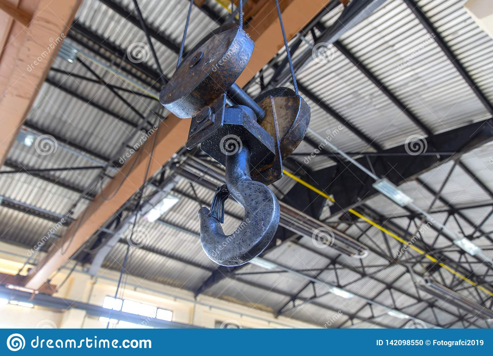工业金属起重机绞盘勾子设备