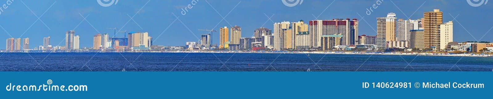 巴拿马市海滩,佛罗里达全景