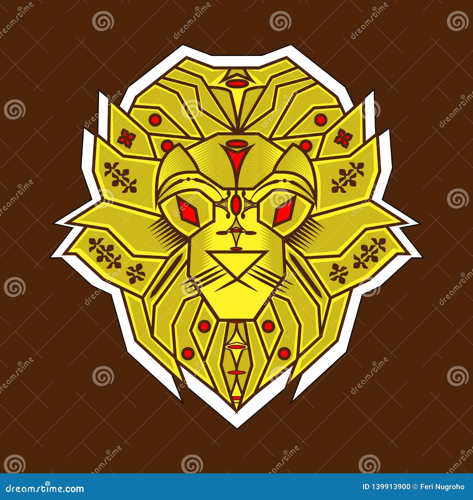 Żółtego lwa prosty styl