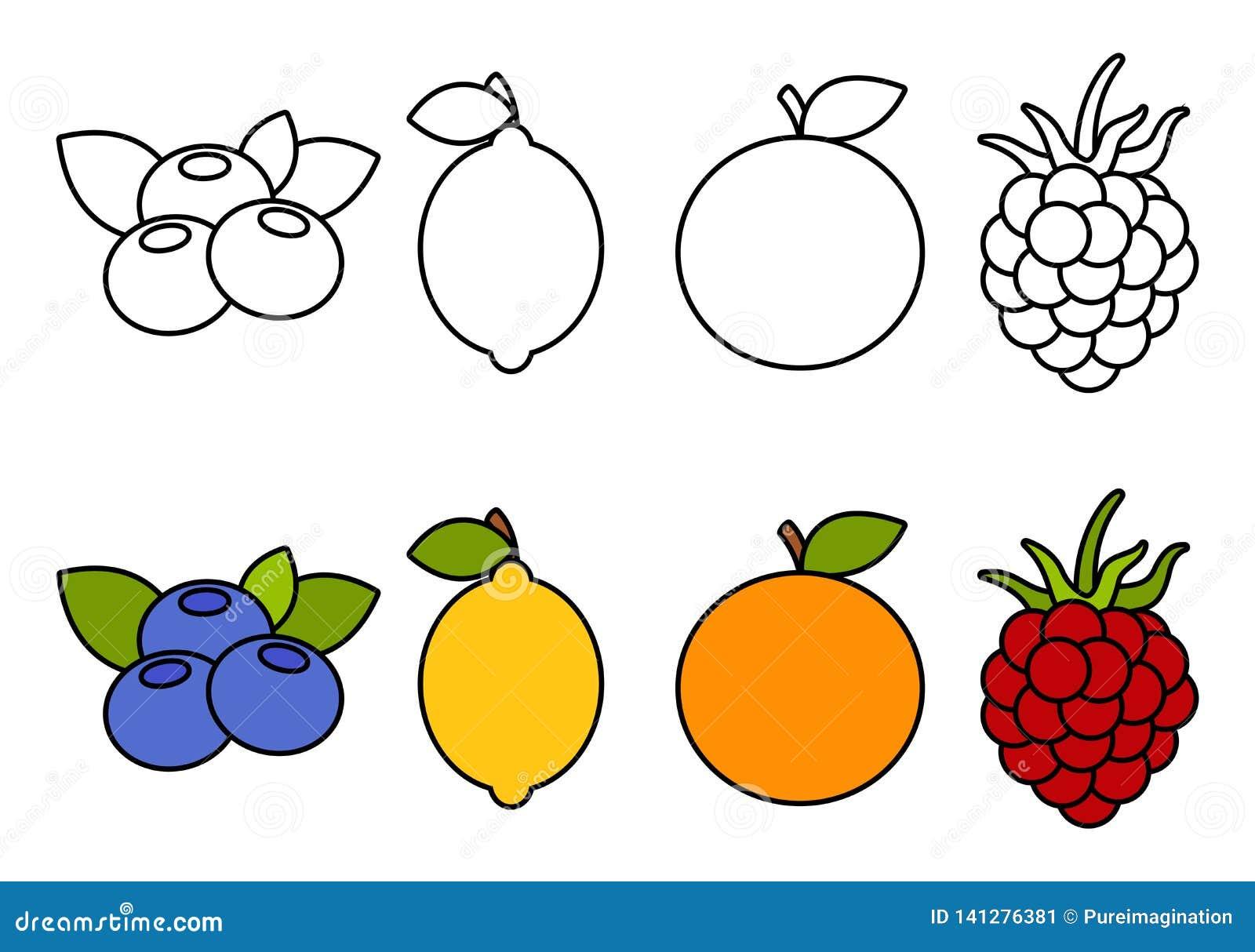 彩图用果子,上色为孩子