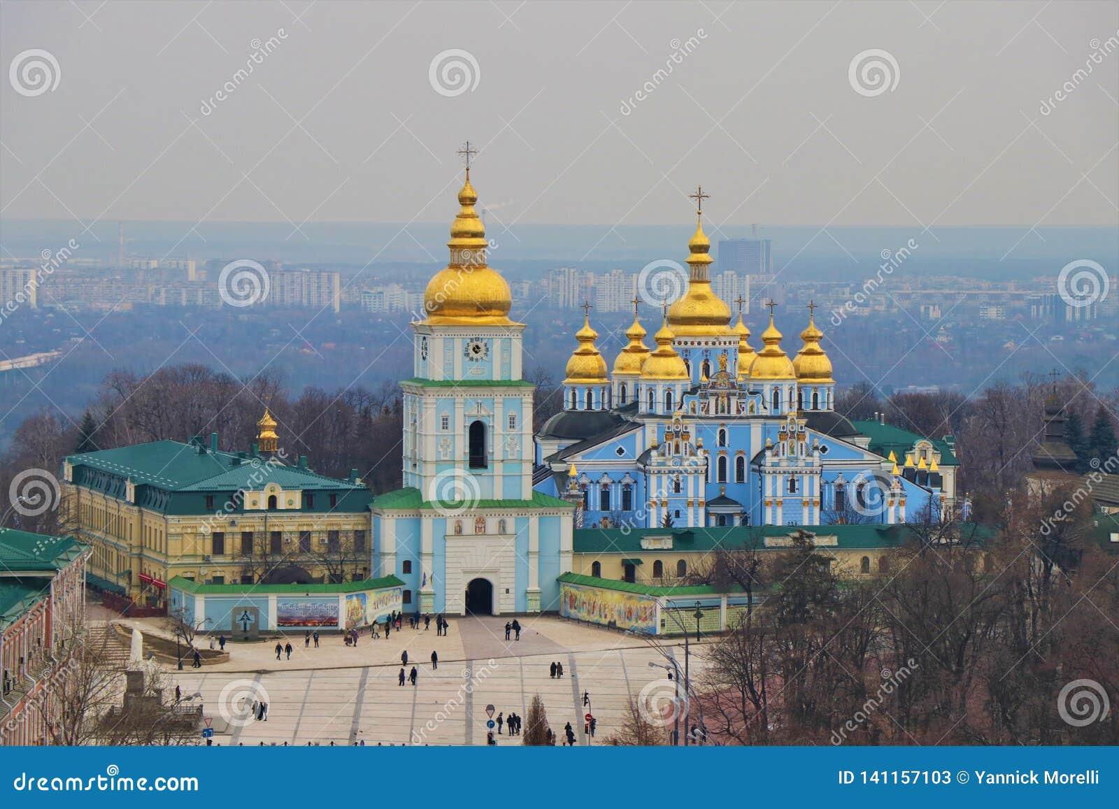 基辅,乌克兰 圣迈克尔修道院的看法