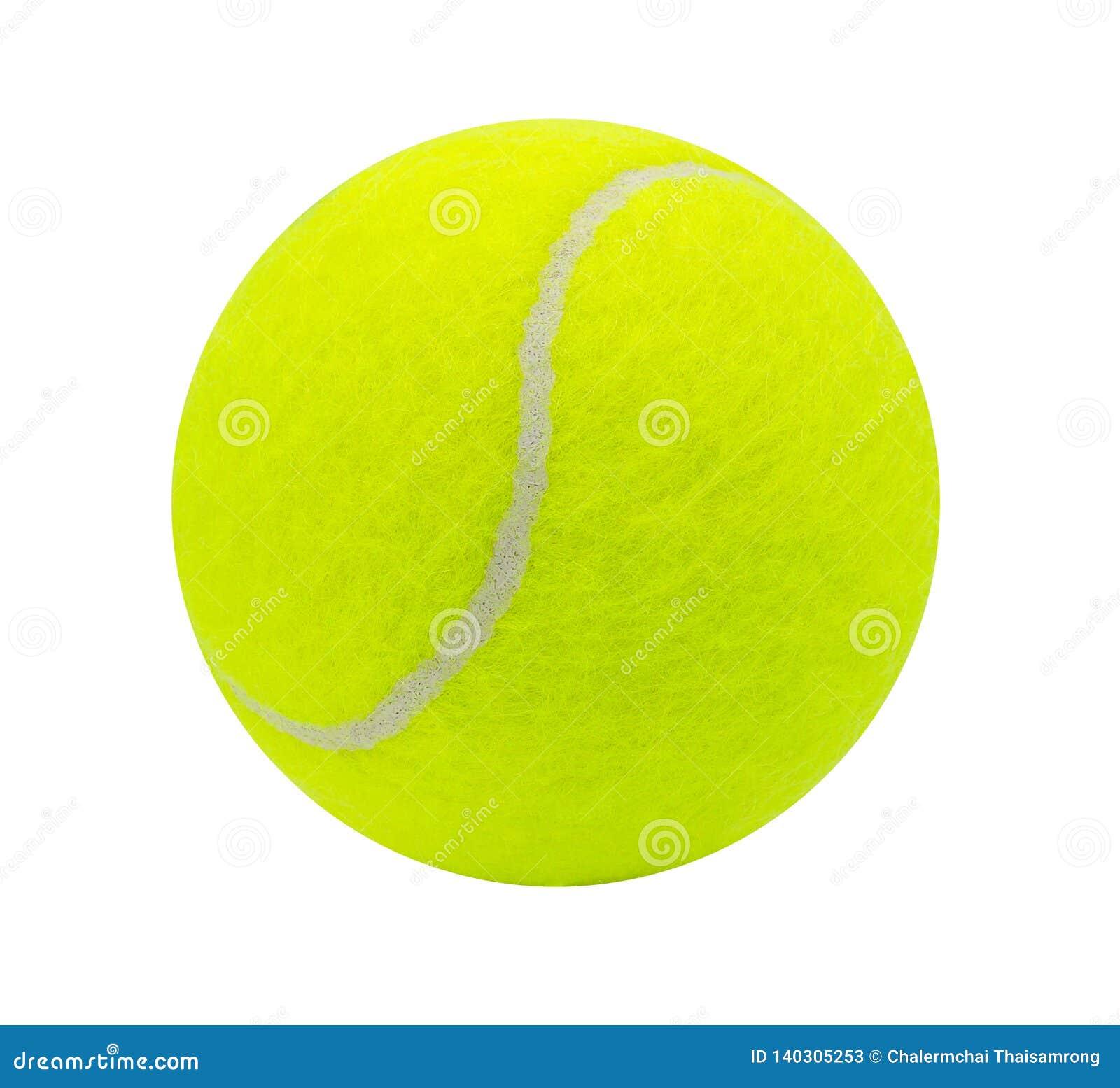 在与裁减路线的白色背景隔绝的网球