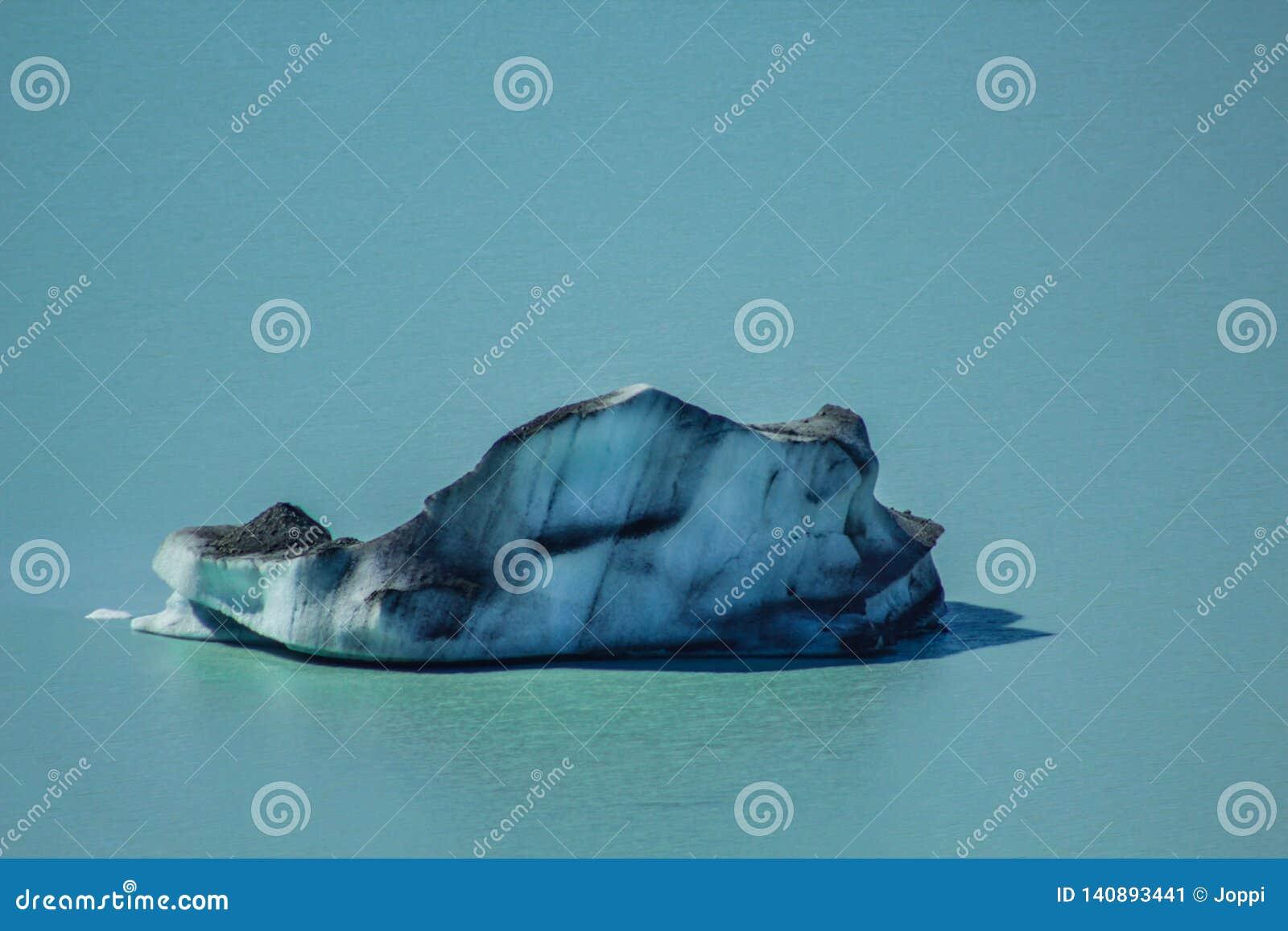 在塔斯曼Glacier湖的大浮动冰山在Aoraki库克山国家公园,新西兰的南岛