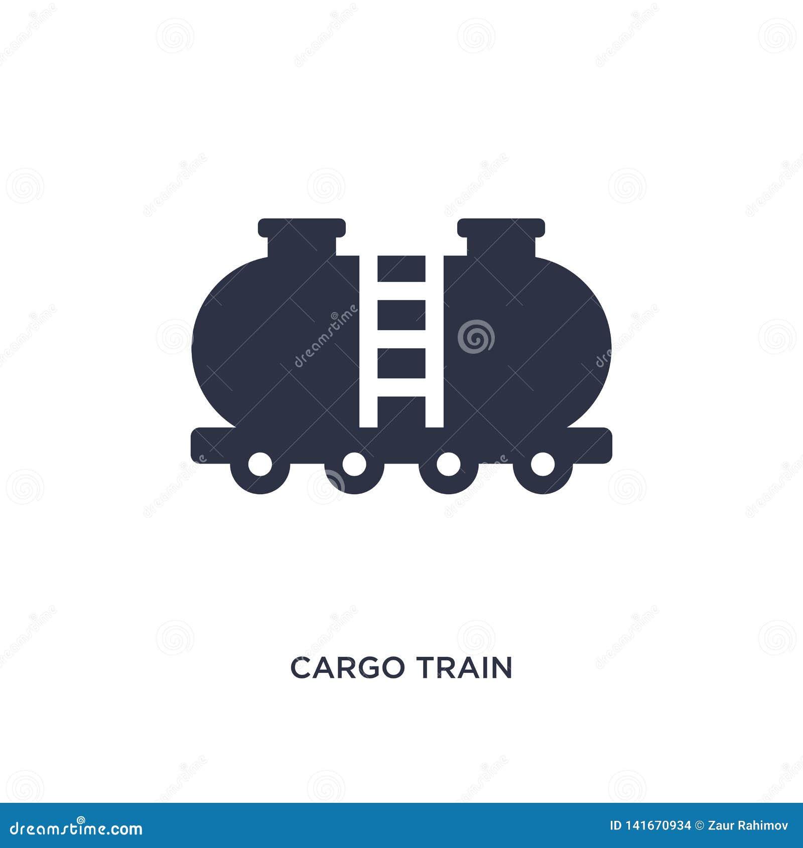 ładunek taborowa ikona na białym tle Prosta element ilustracja od dostawy i logistyki pojęcia