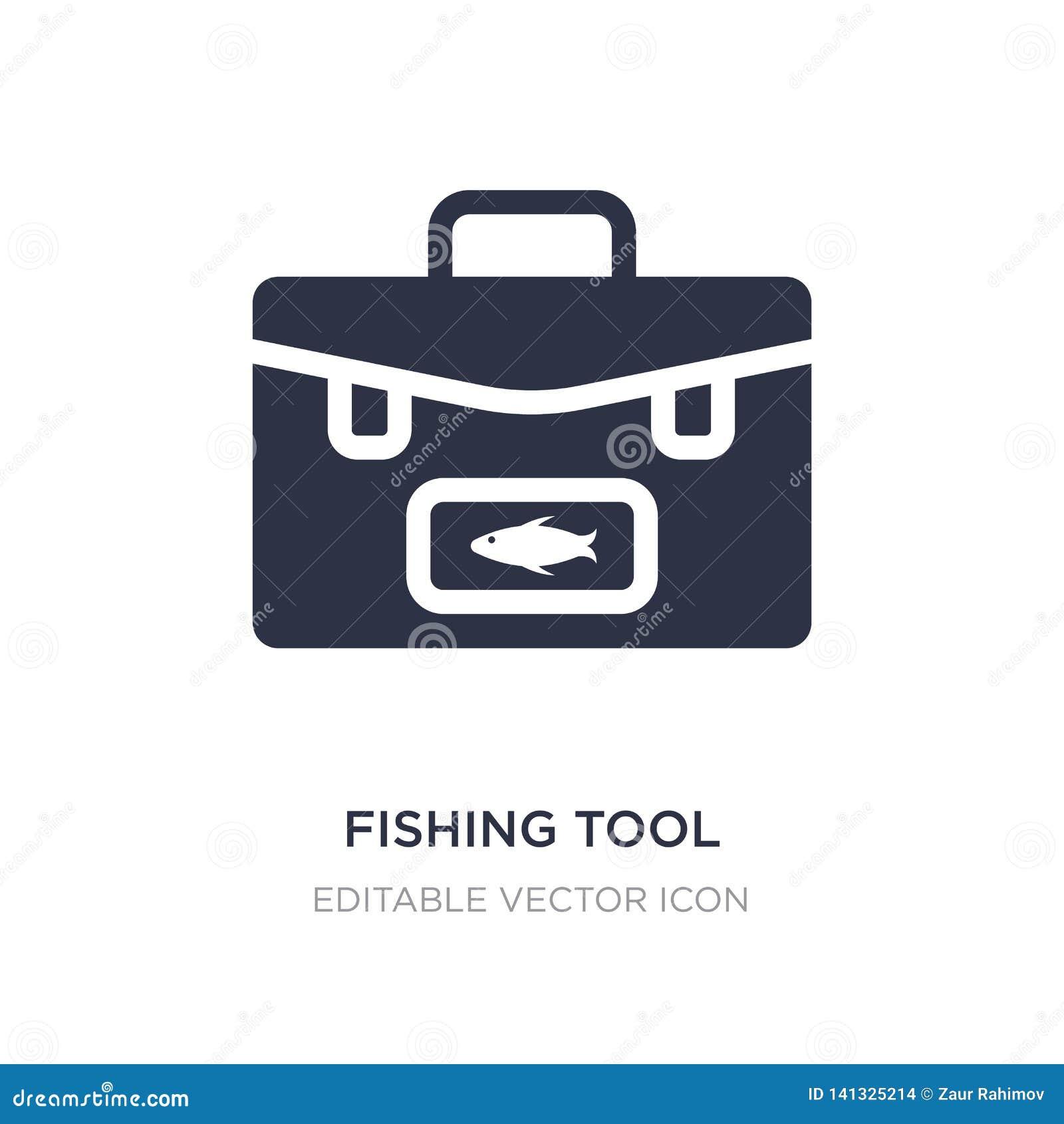 łowić narzędziową ikonę na białym tle Prosta element ilustracja od Karmowego pojęcia