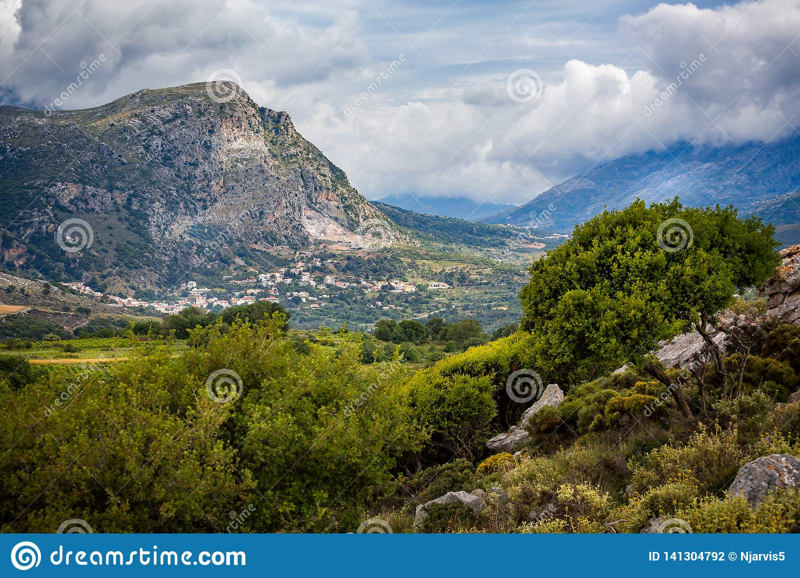 内地克利特,希腊多山风景