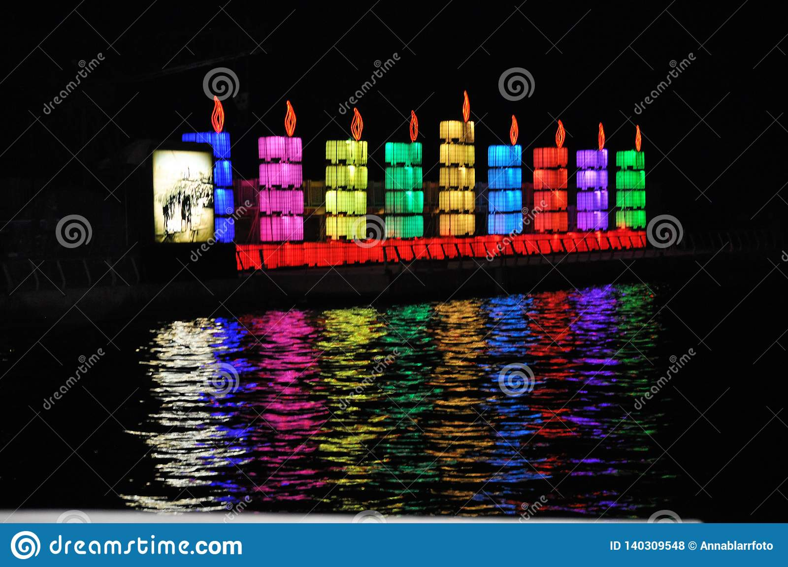 光明节庆祝在特拉维夫