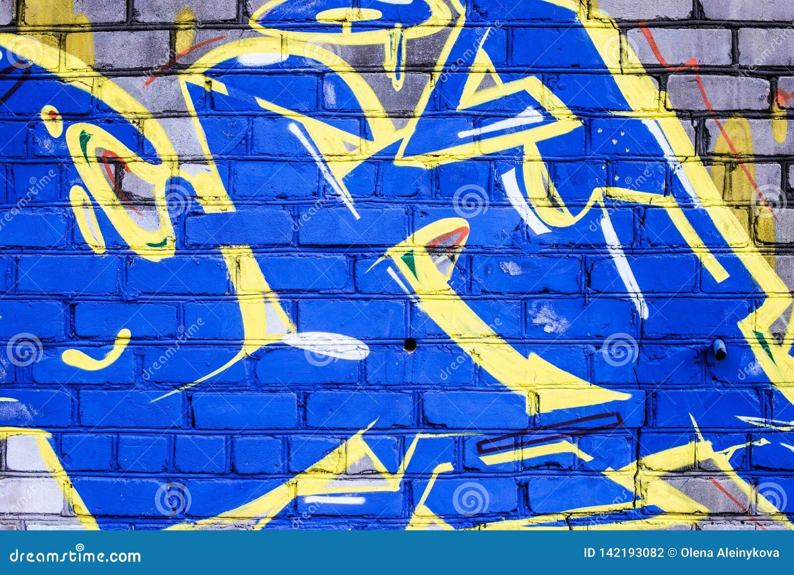 Ściana niszcząca z uliczną graffiti sztuką