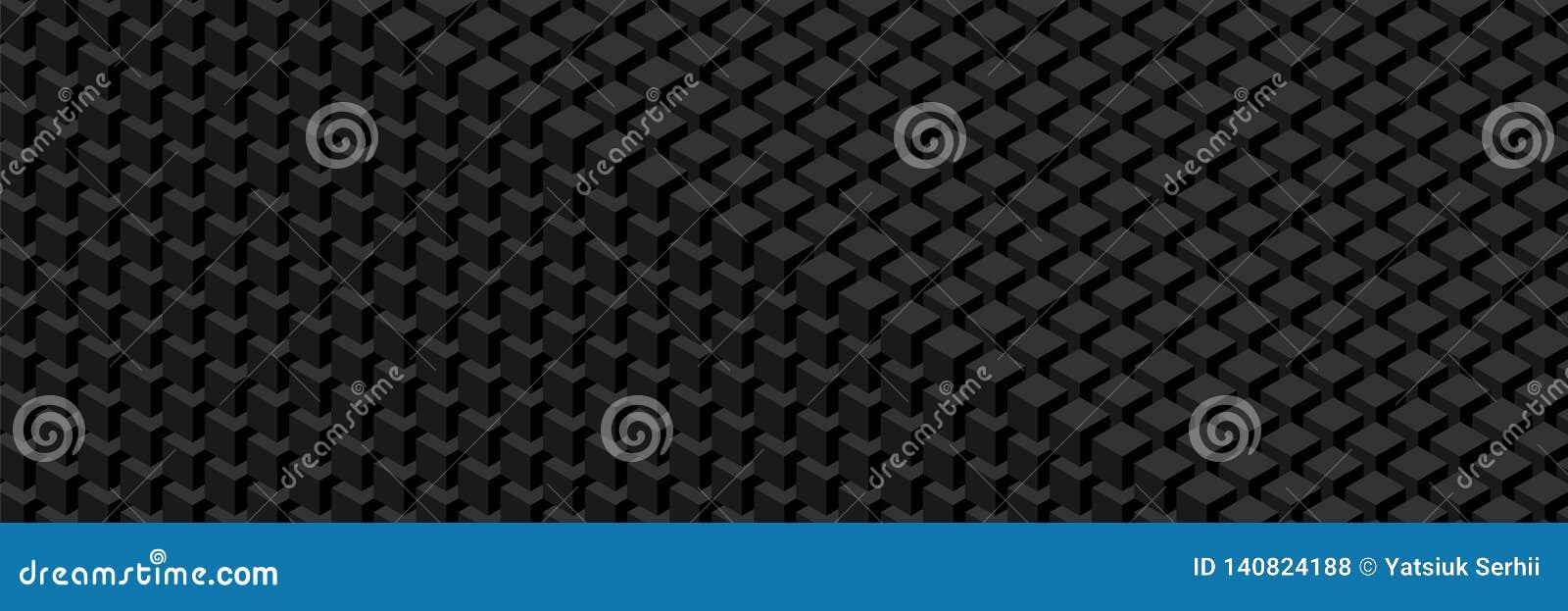 Ściana sześciany Widescreen geometryczny wzór