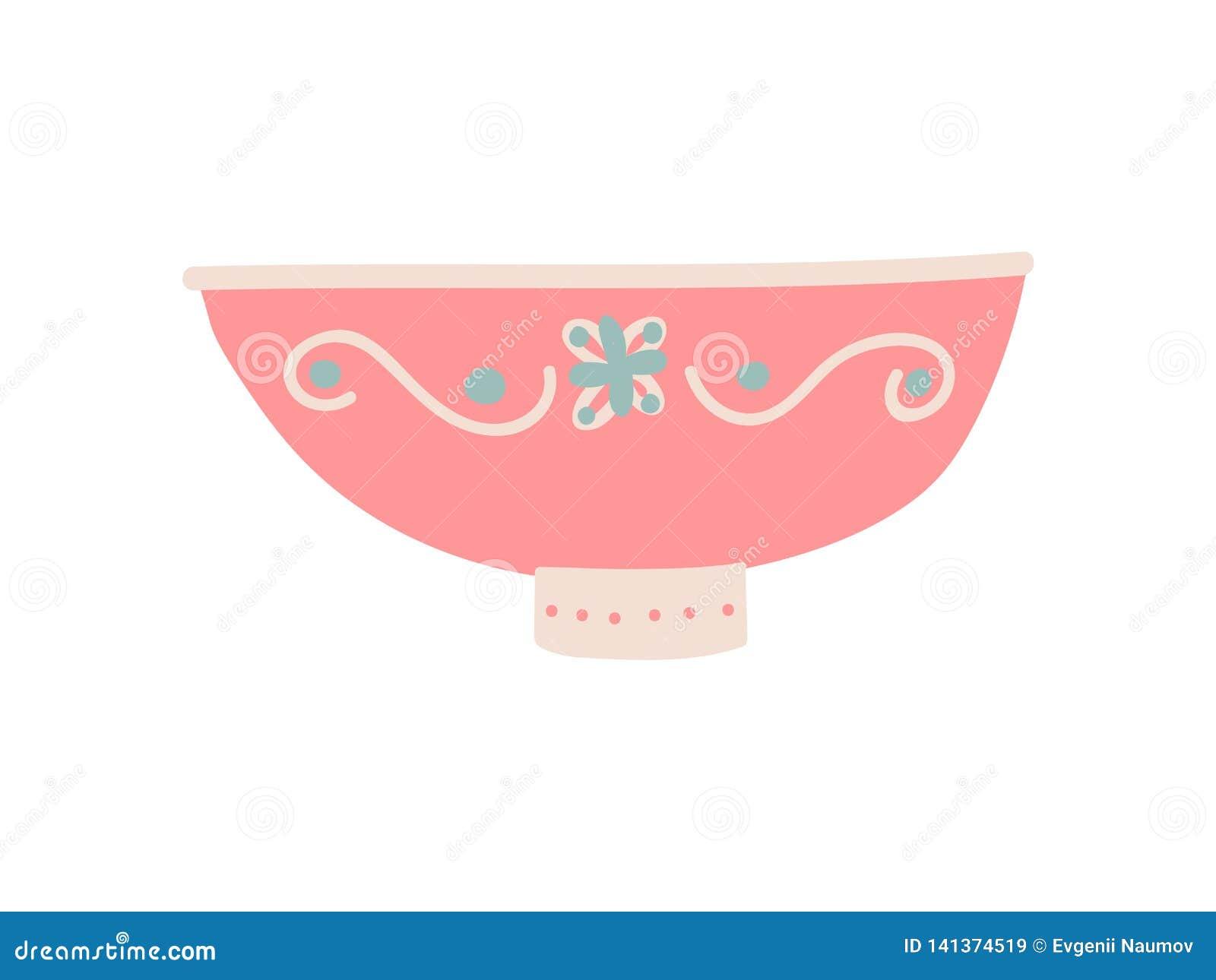 Śliczny pucharu Dishware, Ceramiczna Crockery wektoru ilustracja