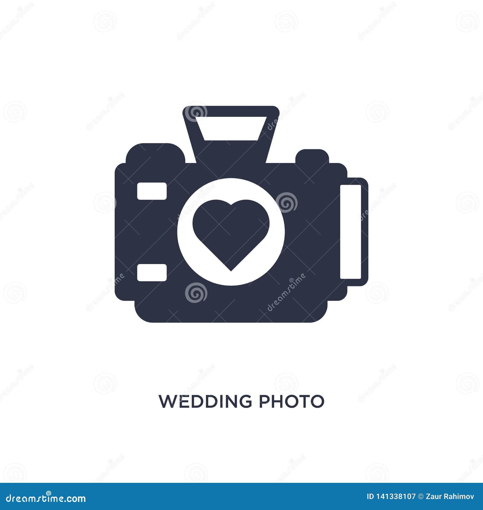 ślubna fotografii ikona na białym tle Prosta element ilustracja od przyjęcia urodzinowego i ślubu pojęcia
