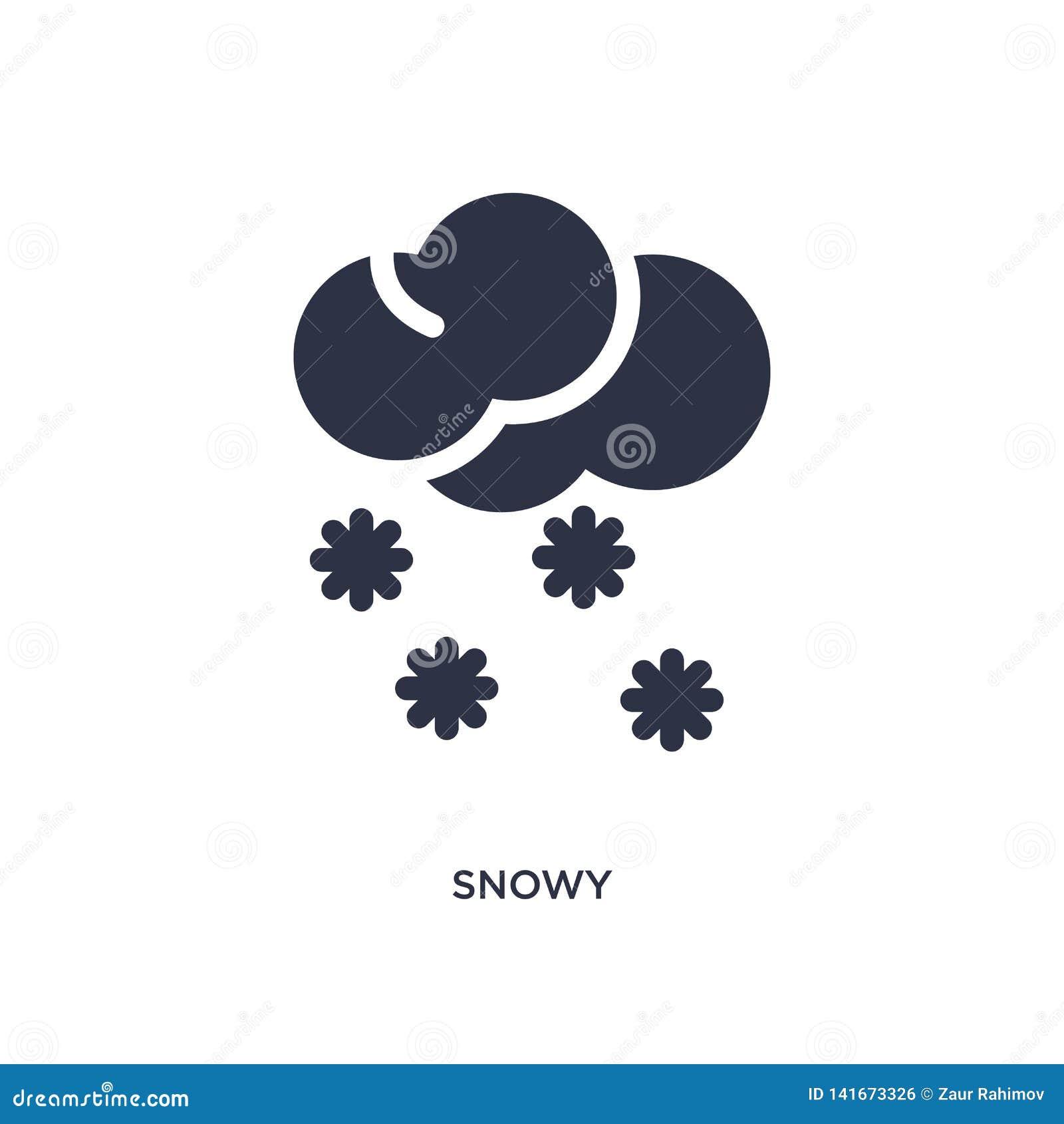 śnieżna ikona na białym tle Prosta element ilustracja od Pogodowego pojęcia