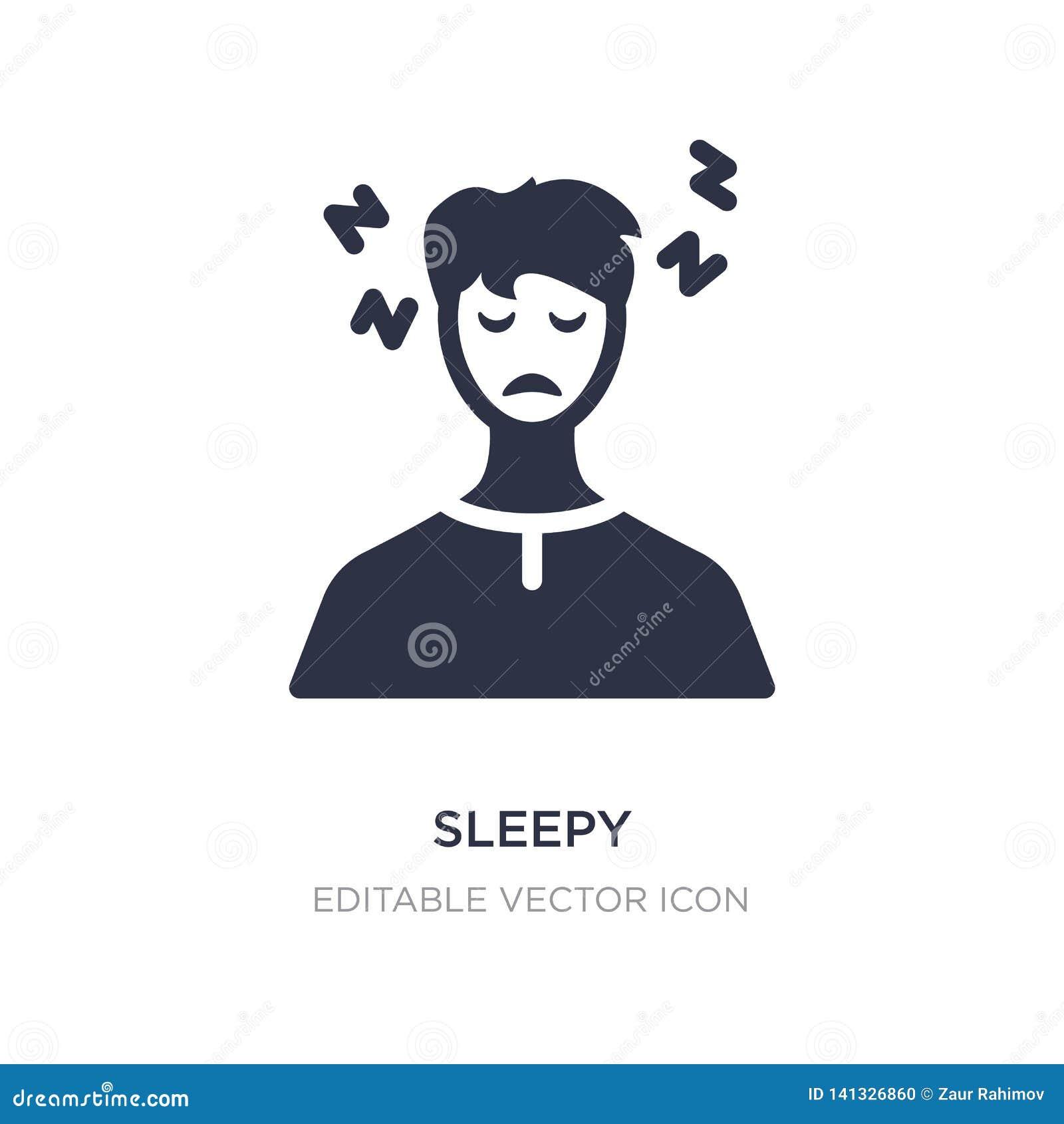 śpiąca ikona na białym tle Prosta element ilustracja od Innego pojęcia
