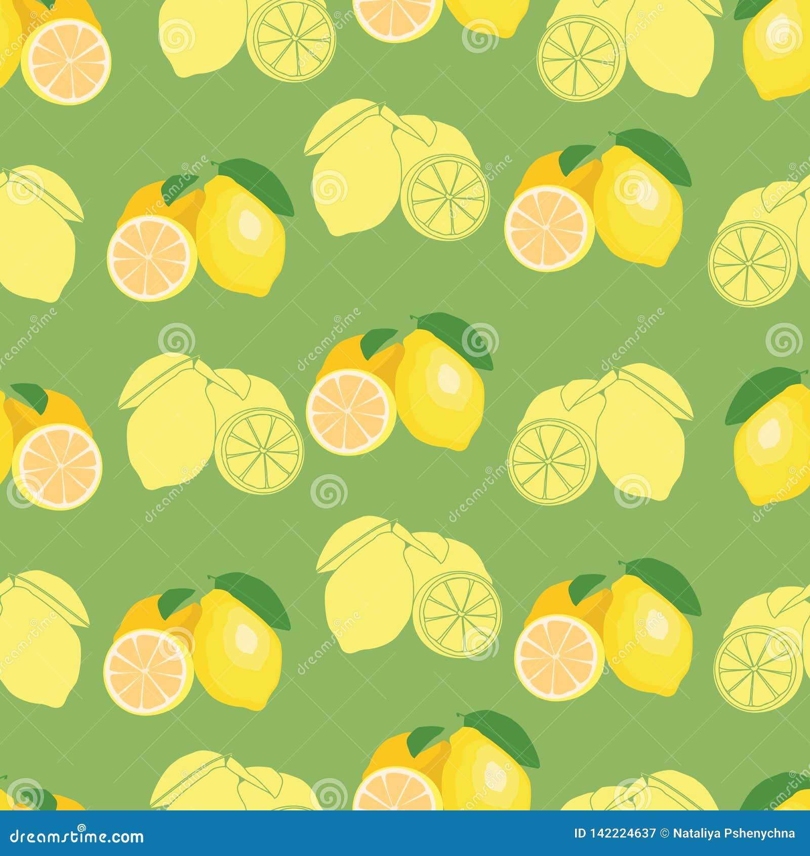 Świeża owoc powtarzający cytryna wzór