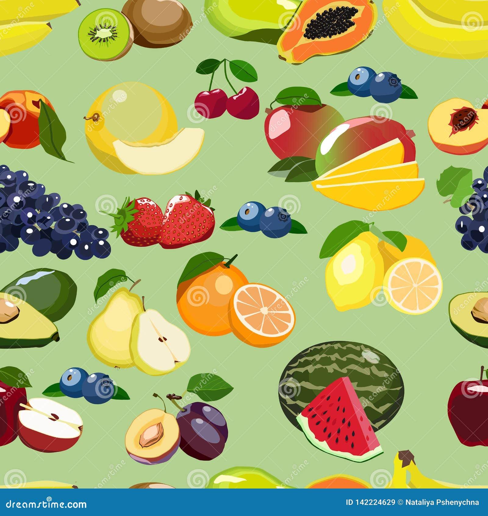 Świeżej owoc powtarzający wzór