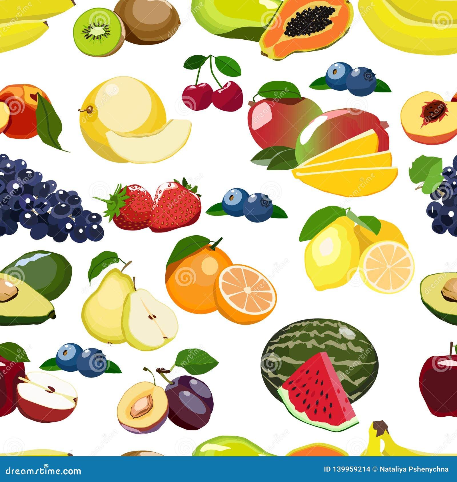 Świeżych owoc bezszwowy wzór