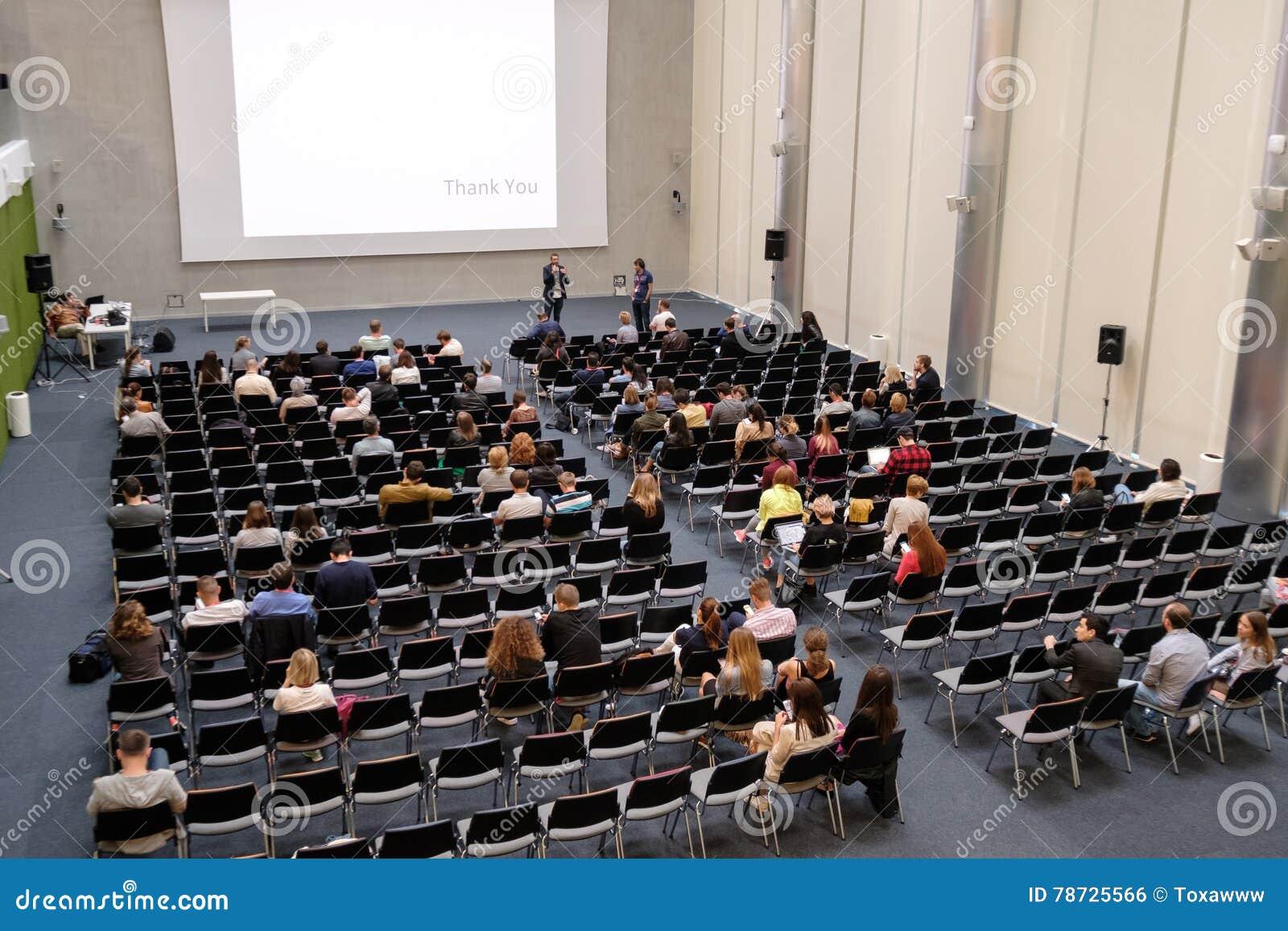 Åhörare på en konferens